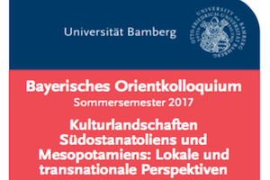"Towards entry ""Announcement of a Lecture Series: Bavarian Orient Colloquium"""
