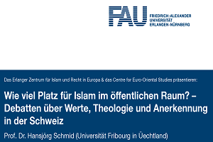 "Towards entry ""Lecture Invitation: How much Space for Islam in the Public Sphere?"""
