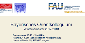 "Towards entry ""Bavarian Orient Colloquium Winterterm 2017/18"""