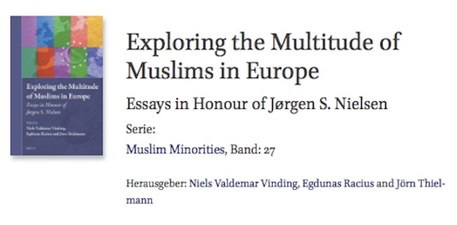 "Towards entry ""New publication by Jörn Thielmann: ""Exploring the Multitude of Muslims in Europe"""""