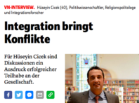 "Towards entry ""Interview with Dr. Hüseyin Çiçek: Integration brings conflicts"""